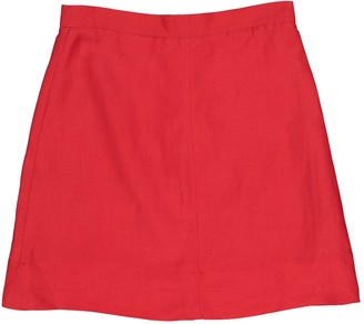 Burberry Red Cotton Skirt for Women