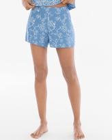 Soma Intimates Full Tap Pajama Shorts Parisian Fleur Riviera