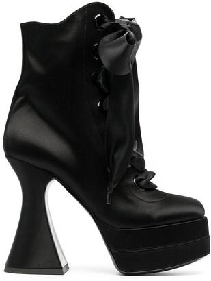 Moschino Lace-Up Platform Boots
