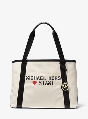 Michael Kors The Michael Large Canvas Miami Tote Bag