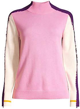 Escada Sport Women's Statice Multicolor Fringe-Trim Wool Sweater