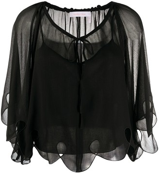See by Chloe Sheer Cape Blouse