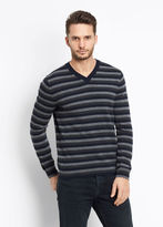 Vince Striped Cashmere V-Neck