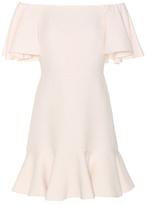 Valentino Virgin wool and silk crêpe off-the-shoulder dress