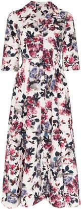 Erdem Kasia floral flared shirt dress
