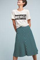 Anthropologie Zali Striped Midi Skirt