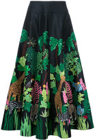 Manish Arora Safari embellished full skirt - women - Polyester - 36