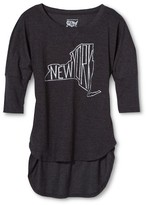 New York Local Pride by Todd Snyder Women's NY State Dolman Tee - Charcoal Gray
