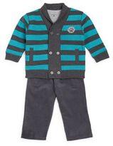 Petit Lem Baby's Double Breasted Sweatshirt, Bodysuit & Corduroy Pants Set