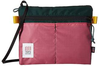 Topo Designs Accessory Shoulder Bag (Forest/Berry) Bags