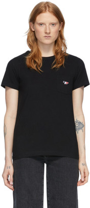 MAISON KITSUNÉ Black Pocket T-Shirt