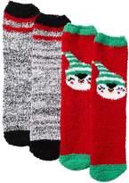 Charlotte Russe Holiday Penguin Cozy Socks - 2 Pack