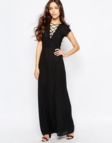 Love Maxi Dress With Lace Up Detail