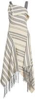 Monse Striped Fringe Midi Dress
