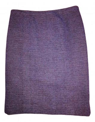 Chanel Purple Tweed Skirts
