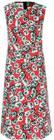 Marni Floral-printed sleeveless cotton-blend dress