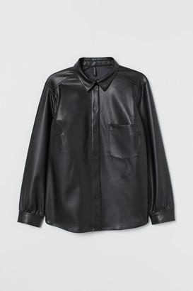 H&M H&M+ Imitation leather shirt