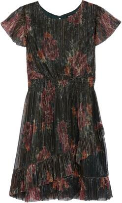 Zunie Smocked Waist Metallic Dress