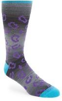 Lorenzo Uomo Men's Leopard Print Socks