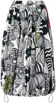 Junya Watanabe printed full skirt