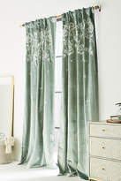 Anthropologie Embroidered Elondra Curtain