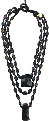 Giorgio Armani Pre-Owned 2000s Layered Bead Necklace