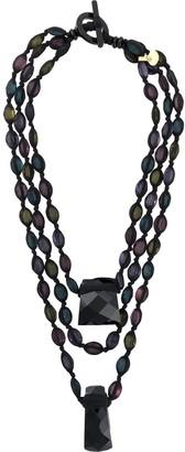 Giorgio Armani Pre Owned 2000s Layered Bead Necklace