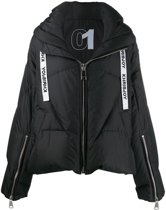 KHRISJOY Feather Down Hooded Jacket