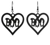 George Love-Heart Boo Earrings