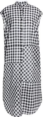 McQ Lace-up Gingham Cotton Midi Dress