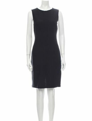 St. John Wool Knee-Length Dress Wool