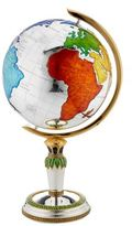 Carrs of Sheffield Enamelled Silver Plated Globe