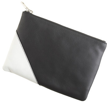 J.Crew Colorblock leather pouch