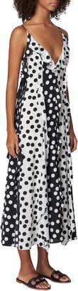 Carolina Herrera Dot Print Sleeveless Dress