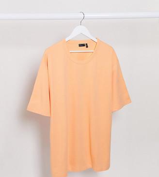 ASOS DESIGN Plus loose fit heavyweight t-shirt in peach