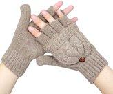 Towallmark Women Warmer Winter Fingerless Gloves