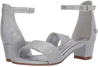 Nine West Tess (Little Kid/Big Kid) (Silver Mesh) Girl's Shoes