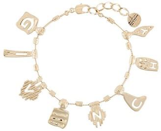 Givenchy Logo Pendant Bracelet
