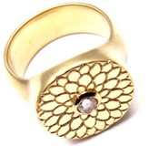 Me & Ro Me&Ro Lotus Mandala 18k Yellow Gold Rose Cut Diamond Ring Size 7.75