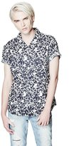 GUESS Short-Sleeve Abstract Animal-Print Slim-Fit Shirt