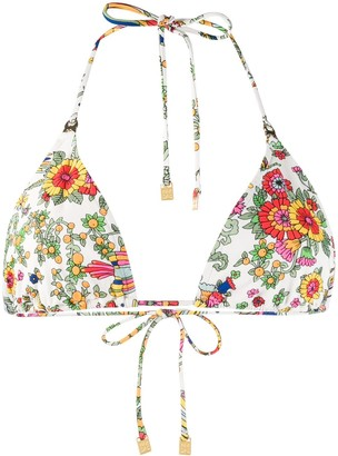 Tory Burch floral print bikini top