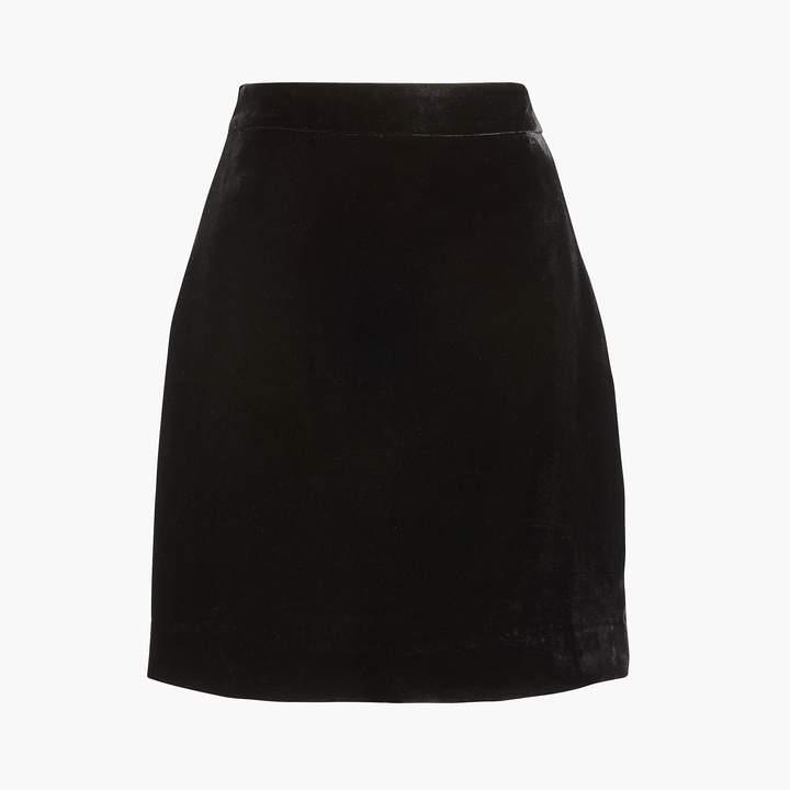J.Crew Velvet mini skirt