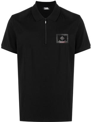 Karl Lagerfeld Paris Chest Logo Polo Shirt
