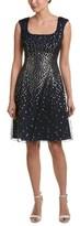 Kay Unger Silk-blend A-line Dress.