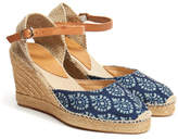 Penelope Chilvers 'Woodstock' Indigo High Mary Jane Espadrille