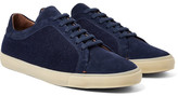 Loro Piana Freetime Winter Walk Cashmere-panelled Suede Sneakers