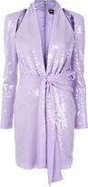 Tom Ford Sequin Tie Waist Dress