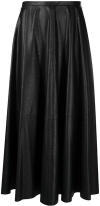 MM6 MAISON MARGIELA Artificial Leather Maxi Skirt