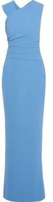 Rachel Gilbert Cutout Pleated Cady Gown