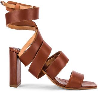 Y/Project Spiral Sandal in Cognac   FWRD